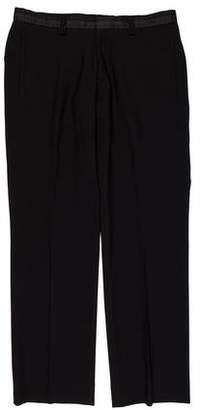 Loro Piana Wool Flat Front Dress Pants