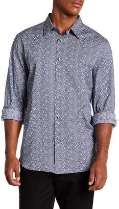 Perry Ellis Spackle Slim Fit Long Sleeve Woven Shirt