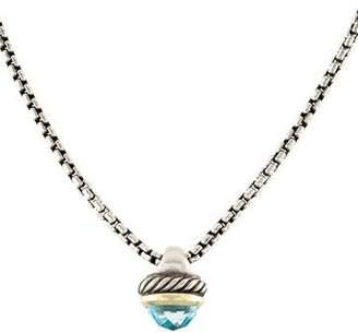 David Yurman Topaz Acorn Pendant Necklace