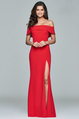 Faviana - Off Shoulder Long Gown s8085 $338 thestylecure.com