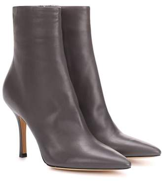 The Row Gloria leather ankle boots
