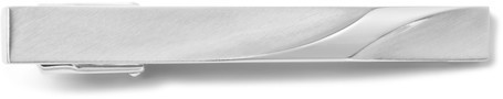Lanvin Brushed Silver-Tone Tie Clip