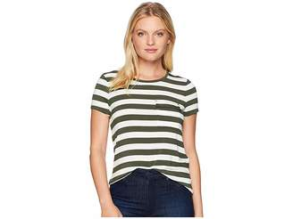 Lauren Ralph Lauren Petite Striped Jersey Pocket T-Shirt