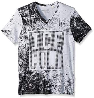 GUESS Men's Short Sleeve Ice Cold V Neck Tee