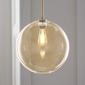 west elm Sculptural Glass Globe Pendant - Large (Champagne)