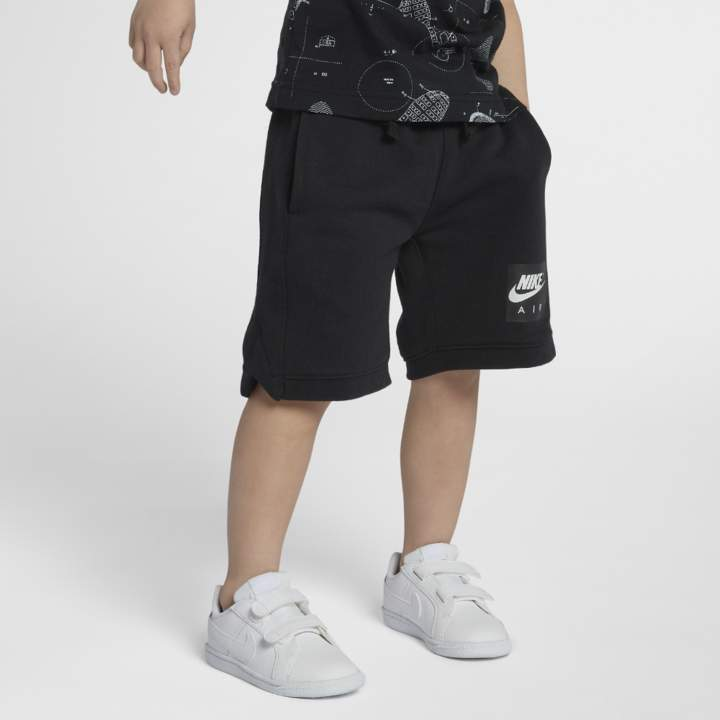 Air Little Kids' (Boys') Knit Shorts Size 4 (Black)