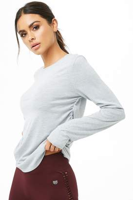 Forever 21 Active Ruched Crew Neck Tee