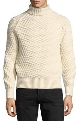 Tom Ford Cashmere-Wool Basketweave Turtleneck Sweater