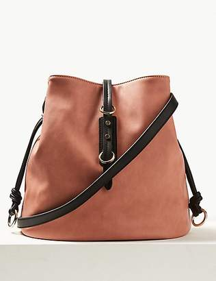 M&S Collection Faux Leather Bucket Cross Body Bag