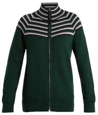 Gabriela Hearst Delia Cashmere Blend Zipped Cardigan - Womens - Green Multi
