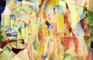 "Rob-ert ODSAN La Ville De Paris (study) - By Robert Delaunay - Canvas Prints 28"" by 18"" Unframed"