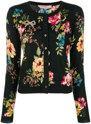 Twin-Set floral print cardigan