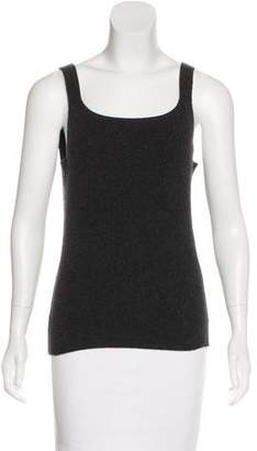 Oscar de la Renta Sleeveless Cashmere Sweater
