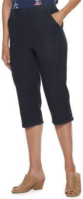 Croft & Barrow Petites The Classic Pull-On Snap Hem Capri Pants