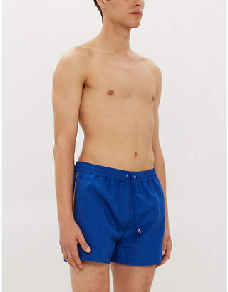 Paul Smith Tape-embroidered relaxed-fit swim shorts