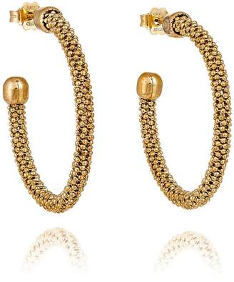 Durrah Jewelry - Gold Spring Hoop Earrings