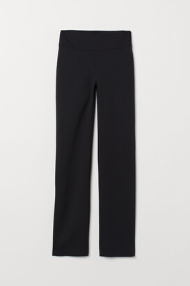 H&M Creped Jersey Pants - Black