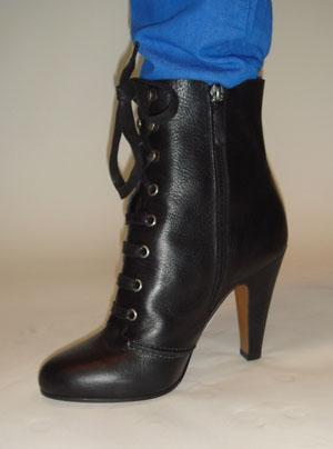 MOSCHINO black lace up ankle boot