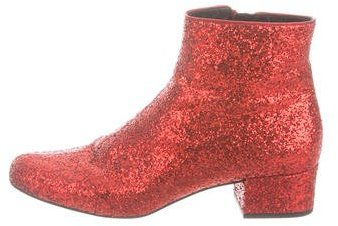Saint Laurent Saint Laurent Babies Glitter Ankle Boots