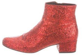 Saint LaurentSaint Laurent Babies Glitter Ankle Boots