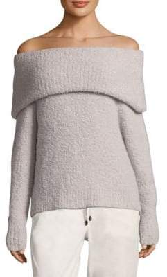 Peserico Boucle Off-The-Shoulder Sweater