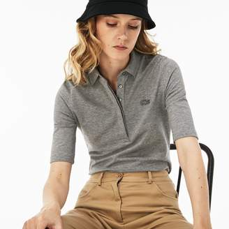 4c1eb6e24 Lacoste Women's Slim Fit Stretch Mini Pique Polo Shirt