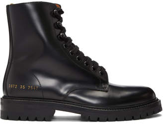 Common Projects Woman by Black Combat Boots