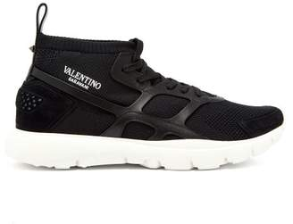 Valentino Sound High Knitted Trainers - Mens - Black