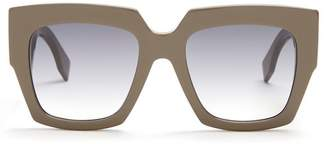 Fendi - Square Frame Acetate Sunglasses - Womens - Grey