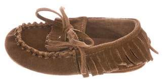 Ralph Lauren Girls' Suede Fringed Loafers