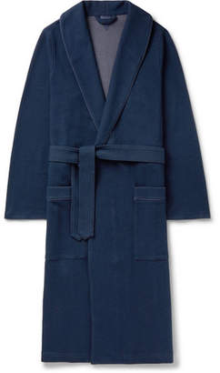 15762b5dc4 HUGO BOSS Waffle-Knit Cotton Robe - Men - Navy