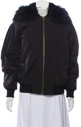 Barneys New York Barney's New York Fur-Trimmed Short Coat