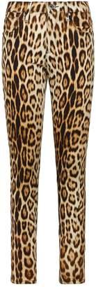 Roberto Cavalli Leopard Print Jeans