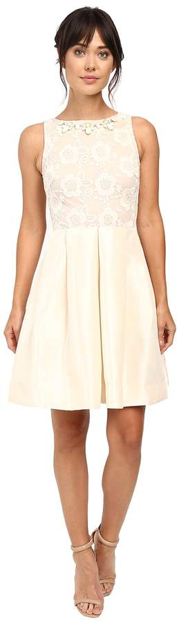 Taylor Shantung with Lace Party Dress Women's Dress