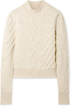 Isabel Marant Brantley Cable-knit Wool-blend Sweater - Ecru