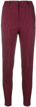 Pinko striped high-waisted trousers