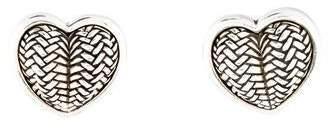 Kieselstein-Cord Woven Heart Clip-On Earrings