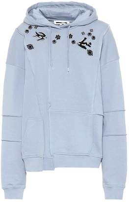 McQ Embroidered stretch cotton hoodie