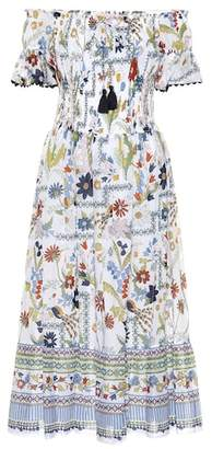 Tory Burch Meadow Folly printed cotton dress