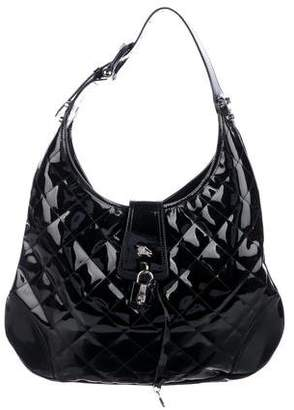 Burberry Quilted Patent Leather Brooke Hobo 1bc9d6096a683