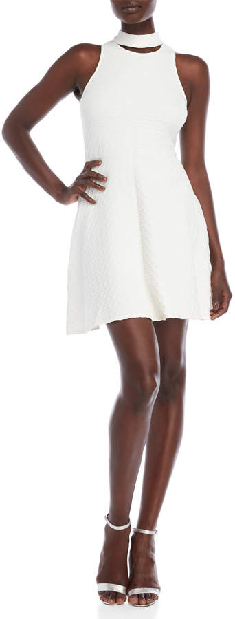Shoshanna Derby Embossed Fit & Flare Dress