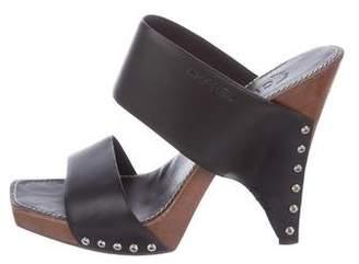 Chanel Logo Slide Sandals
