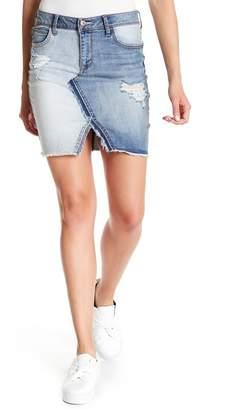 Jessica Simpson Adorn High Rise Distressed Stripe Skirt
