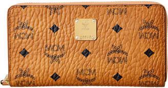 MCM Heritage Visetos Large Zip Around Wallet