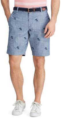 Chaps Big & Tall Classic-Fit Swordfish Chambray Flat-Front Shorts