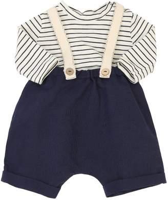 Cotton T-Shirt & Linen Blend Pants