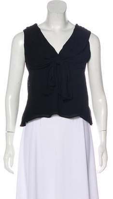 Yigal Azrouel Sleeveless Chiffon Blouse