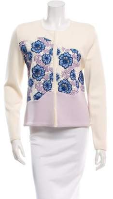 Giambattista Valli Patterned Colorblock Cardigan w/ Tags