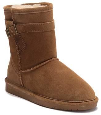 BearPaw Val Youth Suede Genuine Sheepskin Boot (Little Kid & Big Kid)