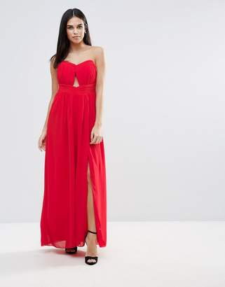 Little Mistress Cut Out Bandeau Maxi Dress